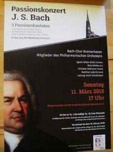 Ankündigungsplakat des Passionskonzertes in der Großen Kirche Bremerhaven